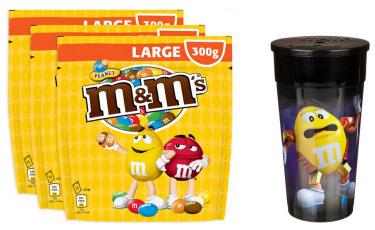3 sachets M&M's peanuts + 1 goodies