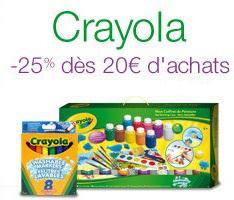 -25 % sur une sélection Crayola dès 20 € d'achat