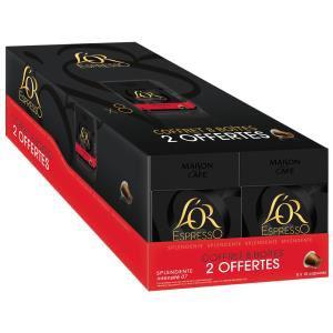 16 boîtes de 10 capsules L'Or Espresso Splendente ou Deliziozo à partir de 20.82€ via Buyster, sinon