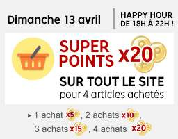Happy hours : Super points x20 de 18h à 22h pour 4 achats