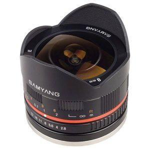 Objectif Samyang 8mm Fisheye f/2.8 pour Samsung NX