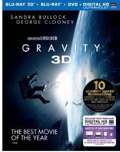 Gravity (Blu-ray 3D + Blu-ray + DVD + UltraViolet )
