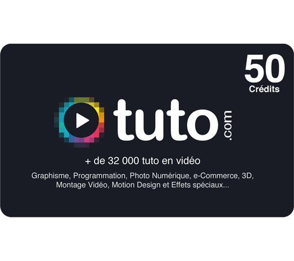 Carte Tuto.com (formation info) 50 crédits