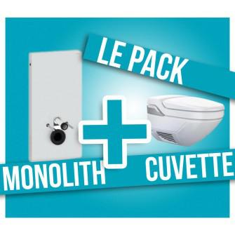 Pack Panneau WC Monolith + WC suspendu Aquaclean 8000