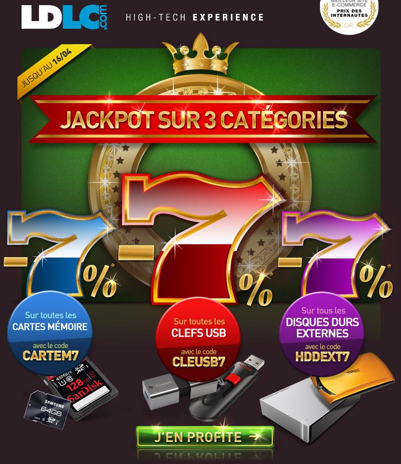 7% de réduction sur les cartes mémoires, les clés USB et les disques durs externes