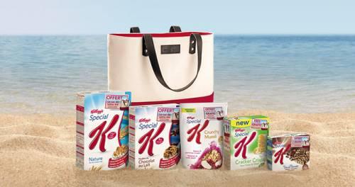 3 boites céréales Kellogg's Special K  + Sac de plage