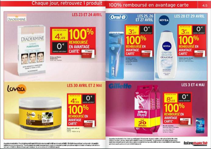 A partir du 23/04 : 5 produits de beauté (Nivea, Diadermine...) 100% remboursé sur la carte  fidélité