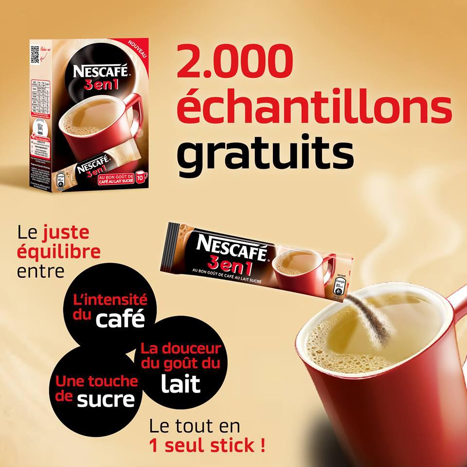 Échantillon Nescafé 3 en 1 Offert