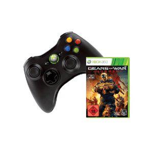 Manette Xbox 360 sans fil noire + Gear of war Judgment