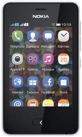 Smartphone Nokia Asha 501 Dual SIM Blanc (Avec ODR 30€)