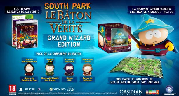 South Park Le Bâton de la Vérité - Édition Collector Grand Sorcier sur PS3