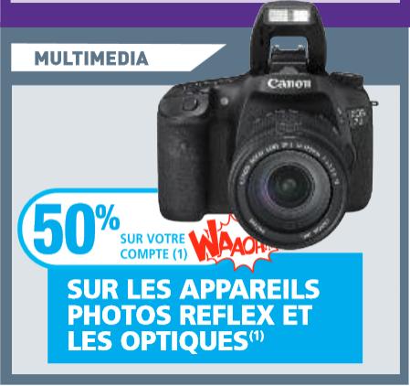 Reflexs et objectifs à -50% sur carte de fidélité - Ex : Reflex Nikon D600 + Objectif Nikon 24-85 MM VR
