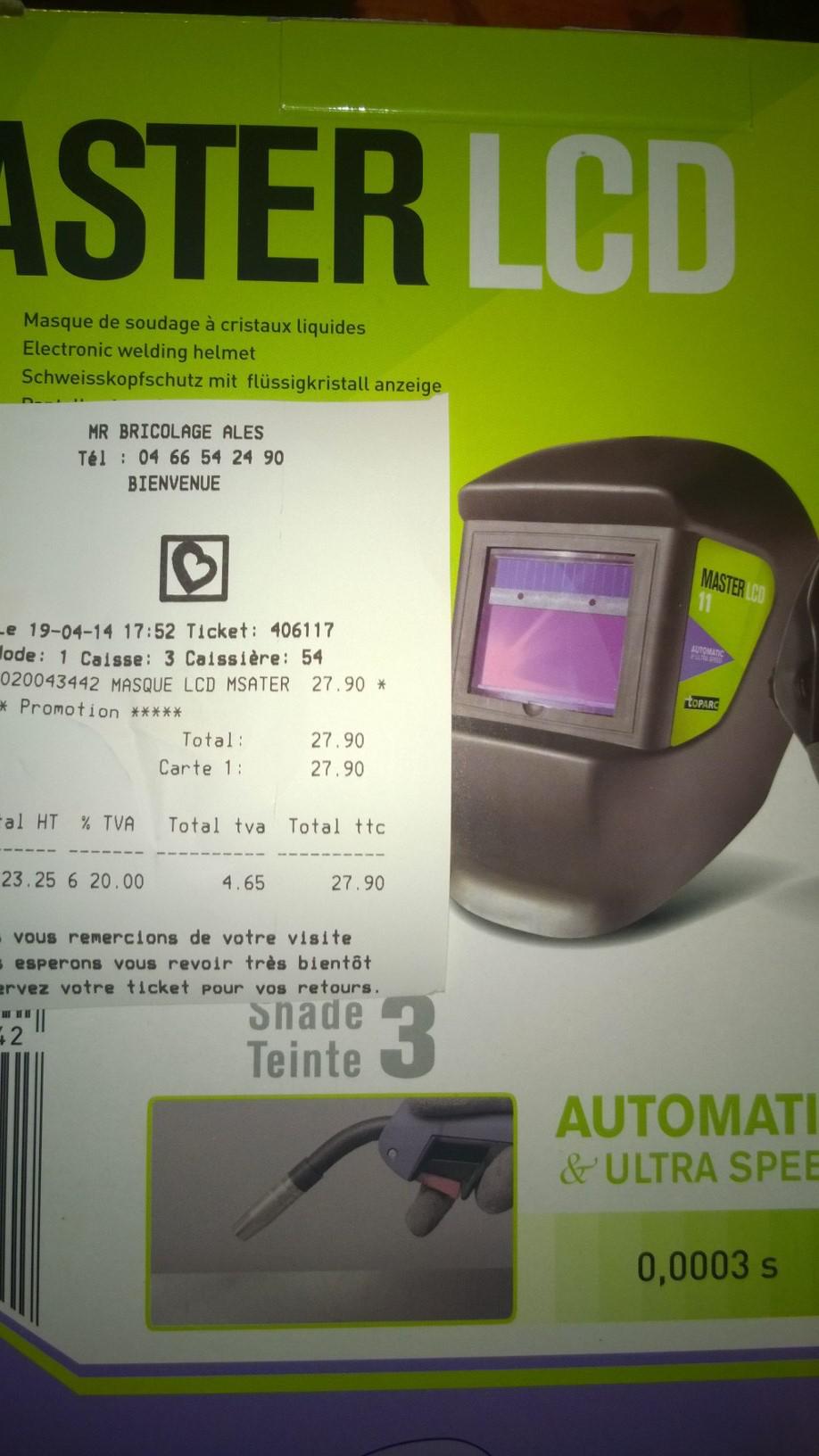 Masque de soudure Gys LCD Master 11