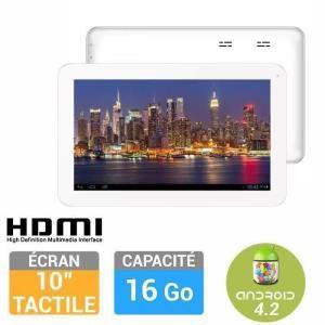 """Tablette 10"""" Storex eZee'Tab10D-11M 16 Go blanche"""