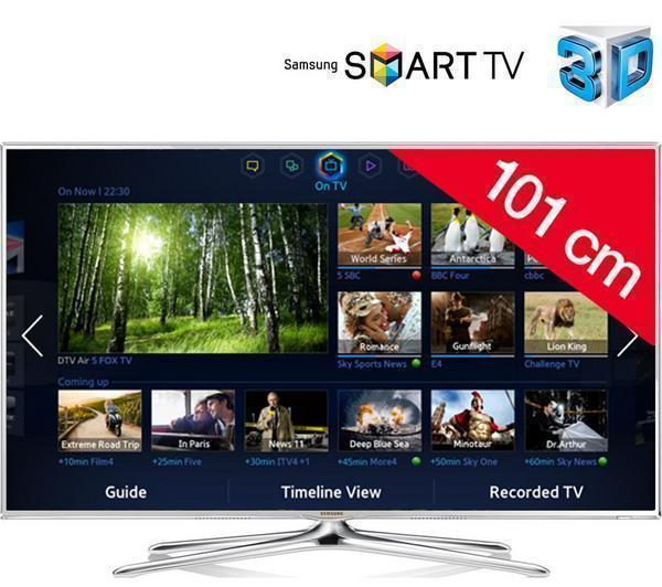 "TV LED 40"" Samsung UE40F6510 (3D, Smart TV, 400Hz, HDMI x4, WiFi...) + Tablette tactile Kidspad 3"