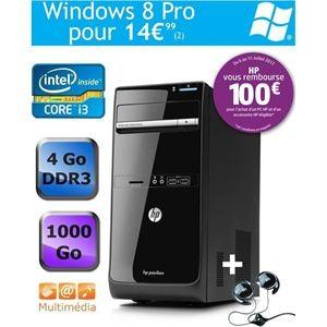 PC de bureau HP Pavilion p6-2140ef + casque HP avec ODR (-100€)