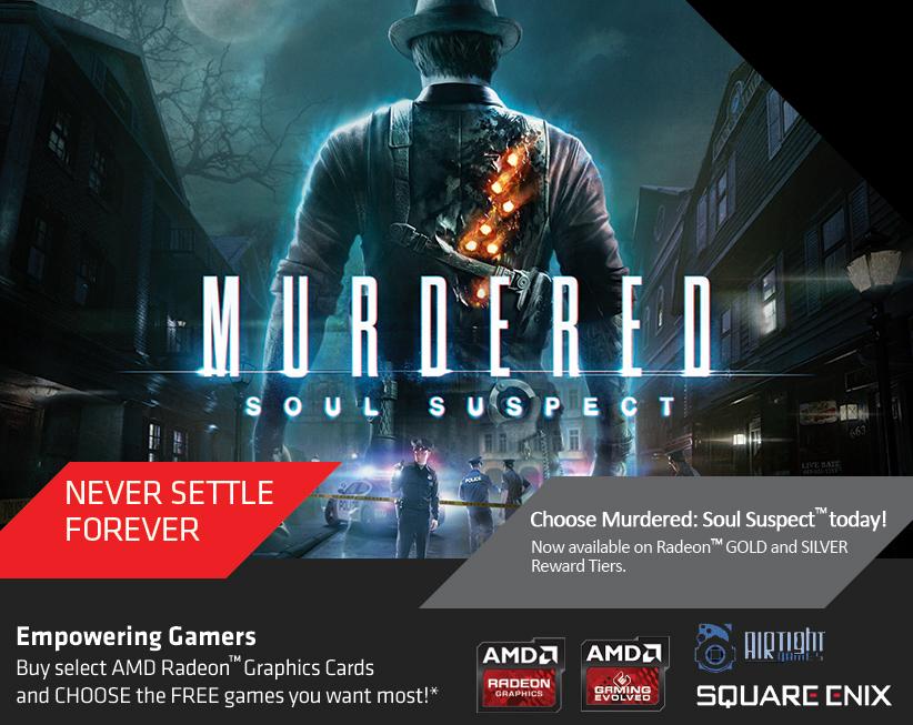 Jeux PC offerts pour l'achat d'une carte graphique AMD