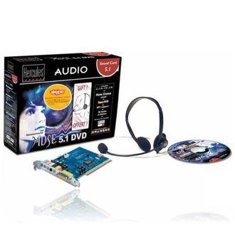 Carte Son Hercules Gamesurround Muse 5.1 DVD + Micro casque