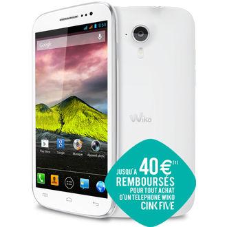 Smartphone Wiko Cink Five Blanc (ODR 40€)