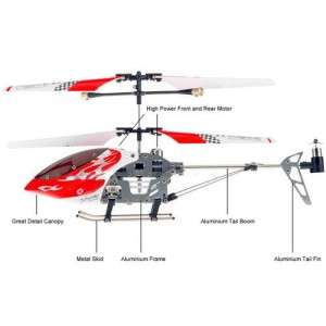 Helicoptere Swift Rouge 3 Voies Metal USB avec Gyro