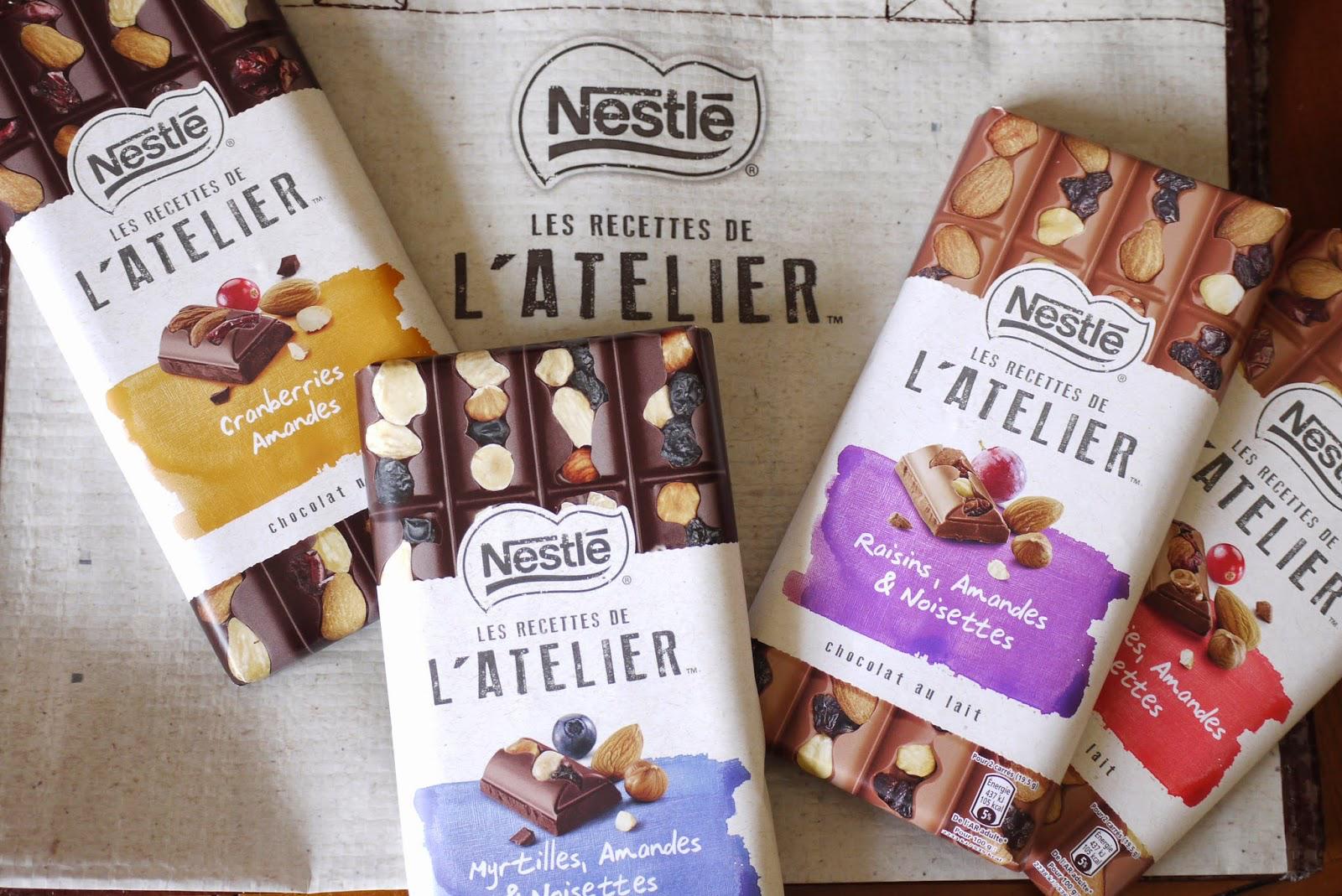 Chocolat L'atelier de Nestlé (différentes variétés)