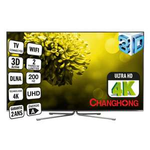 "TV LED 55"" Changhong UHD55B6000IS - 139cm, 3D - 4K - 3840x2160"