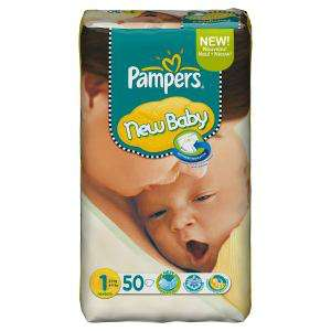 50 Couches Pampers New Baby - 2 à 5 Kg