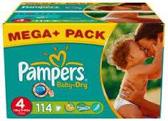 Couches Pampers Baby Dry Mega-Pack (50% sur carte fidélité) - Différentes tailles