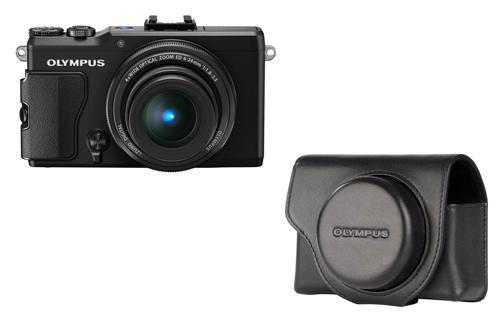 Appareil photo compact Olympus XZ-2 noir + Etui cuir