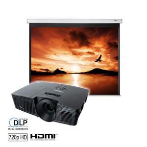 "Vidéoprojecteur Optoma W300 - 1280 x 800 + Ecran 84"" offert"