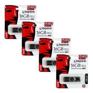 Lot  de 4 clés USB 2.0 Kingston 16 Go Data Traveler 101 G2
