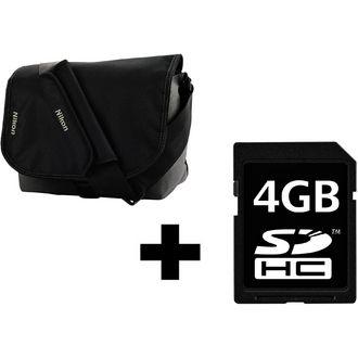 Sac  à bandoulière fourre tout Nikon CF-EU05 pour reflex + Carte mémoire SD 4Go