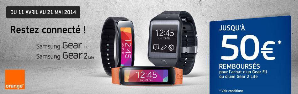 Montre Connectée Samsung (avec ODR de 50€) : Galaxy Gear Fit à 149.99€ ou Galaxy Gear 2 Lite