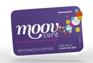 Carte de taxi / taxi moto / VTC prépayée Moov'card