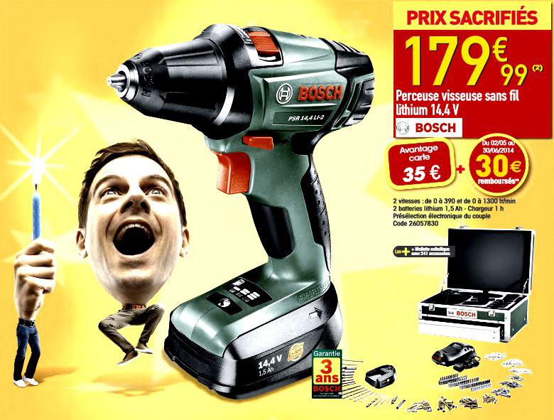 Perceuse - visseuse Bosch PSR 14,4 LI-2 avec 2 batteries +  malette 241 accessoires (30€ ODR et 35€ sur la carte)