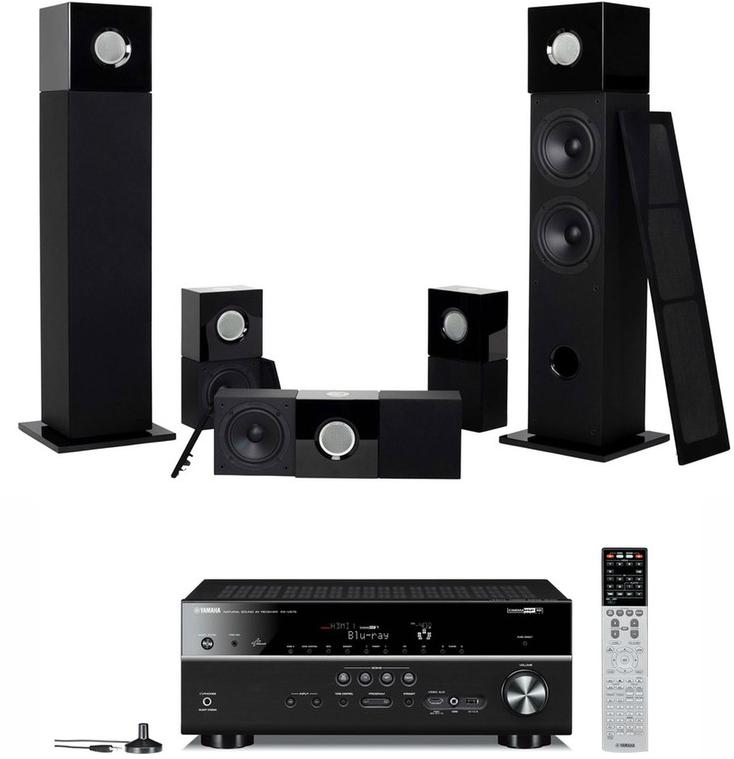 Pack Ampli Yamaha RXV675B + Enceintes colonnes Cube 5.0