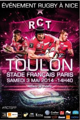 Match Rugby Toulon / stade français Paris