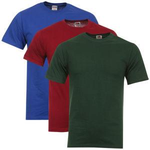 Lot de 3 T-shirts Fruit of the Loom (Taille S uniquement)