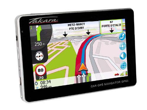 """GPS 4,3"""" Tactile Takara GP73 Carte à vie Europe à 50.6 @ Cdiscout ou GP63 Europe"""
