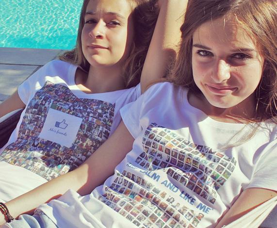 T-shirt personnalisé avec ses amis Facebook