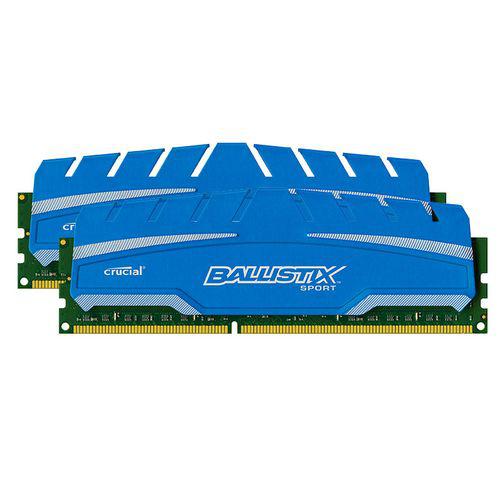 Mémoire Crucial Ballistix Sport XT DDR3 PC3-12800 - 2 x 4 Go (8Go)