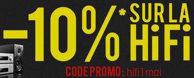 10% de réduction sur la Hifi