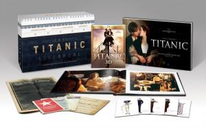 Titanic Coffret collector limité - Blu-ray 3D + 2D + Bonus - 4 disques + Goodies