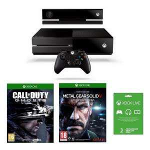 Console Xbox One + Call Of Duty Ghosts + Metal Gear Solid V Ground Zeroes + Abonnement Live 3 Mois+ optimisation abonnement live 12 mois