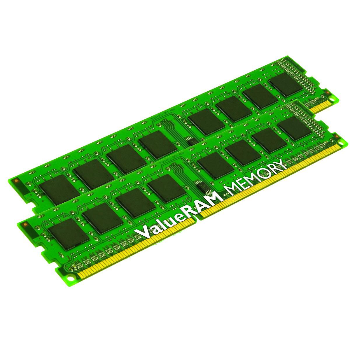 Barrettes de ram Kingston ValueRAM 8 Go (2 x 4 Go) DDR3 1600 MHz CL11 SR X8 (garantie à vie)