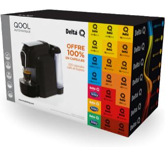Machine à café Delta Q + 220 capsules
