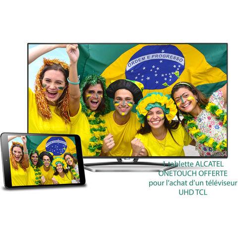 """Téléviseur TCL U49S7606DS 49"""" 4K + Tablette Alcatel Onetouch POP8 offerte"""