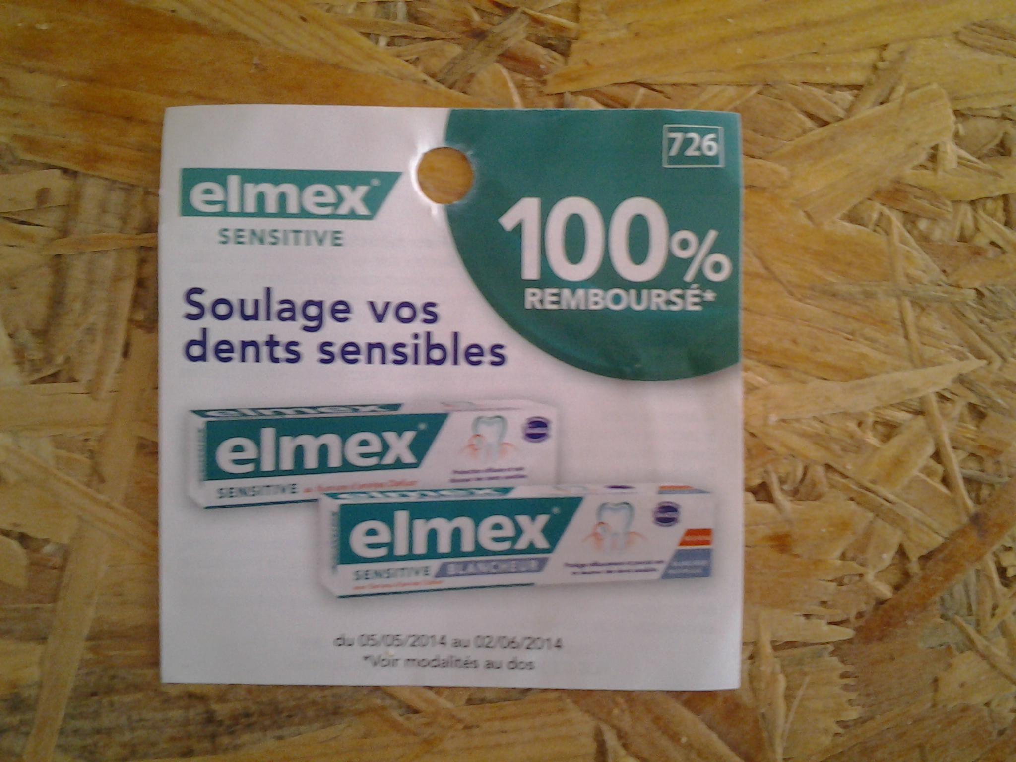 Dentifrice Elmex Sensitive 100% remboursé
