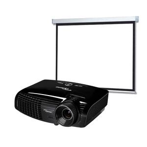 Vidéoprojecteur Optoma HD131XE Full HD 3D + Ecran Motorisé 200x200