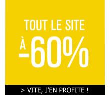 - 60% sur tout le site